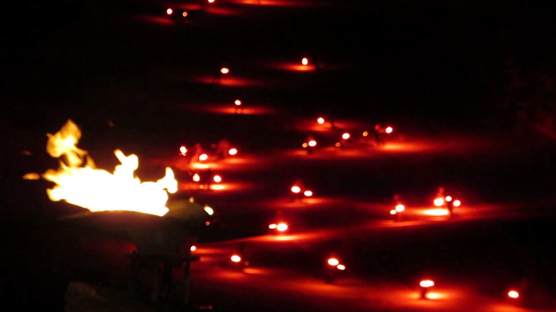 Fire Night Ski